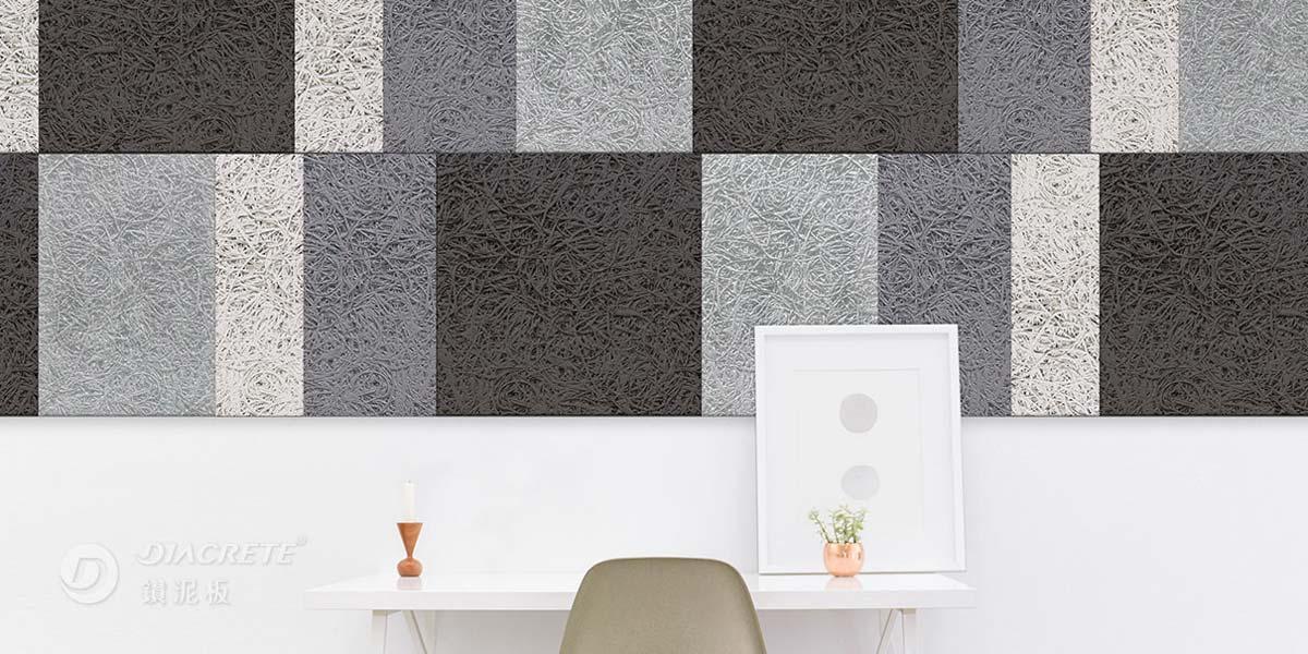 鑽泥板2020年推出設計新品,裁切成不同寬度的尺寸,可讓牆面設計富有拼貼幾何感。