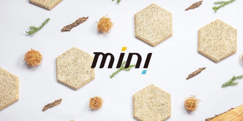 中菱建材希望讓製程更環保、接近零浪費,於是推出全新品牌mini生活拼貼,將鑽泥板NG品再製成居家吸音壁飾。