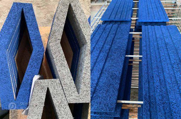鑽泥板環保水性漆噴色處理