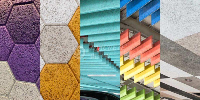 機能型綠建材鑽泥板,擁有良好的隔熱、吸音特性,同時也是靈活的裝飾材,在造型和色彩都有極高的彈性。