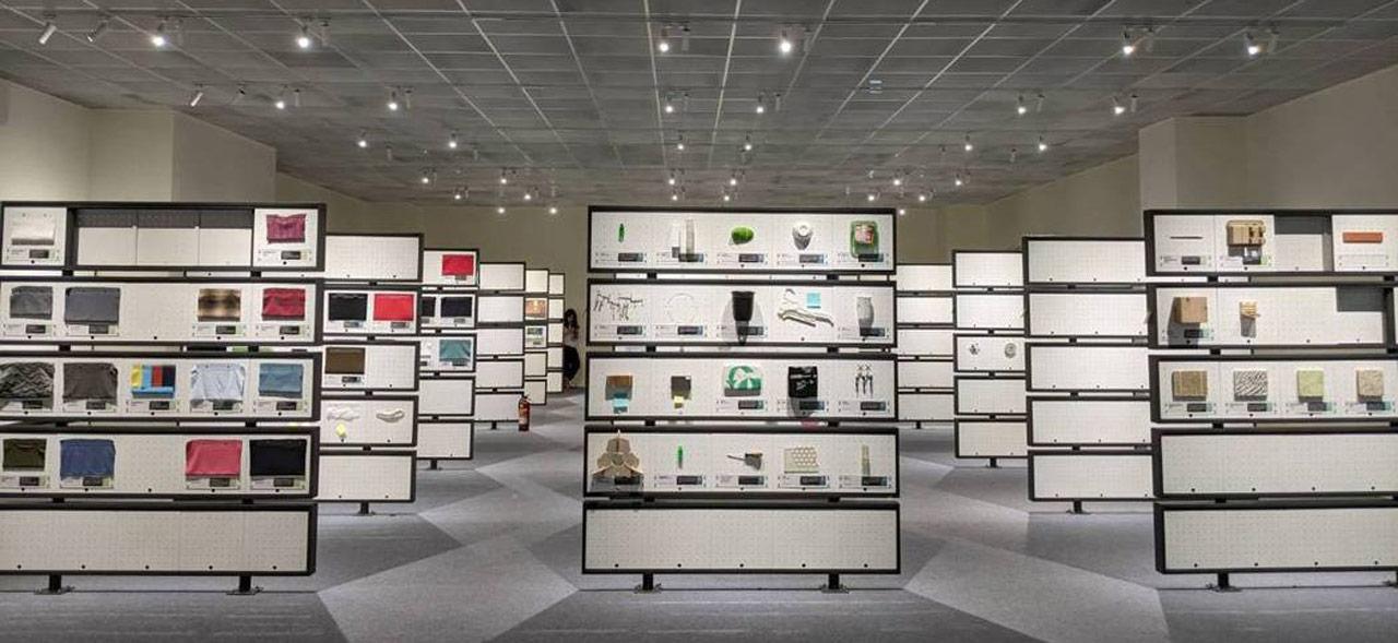 永續材質圖書館內部空間實景。(圖片來源/塑膠工業技術發展中心)