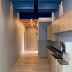 新北 台灣電力公司烏來台灣電業文物館_室內走廊-鑽泥板彩色吸音障板
