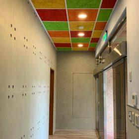 新北 台灣電力公司烏來台灣電業文物館_鑽泥板彩色輕鋼架天花板