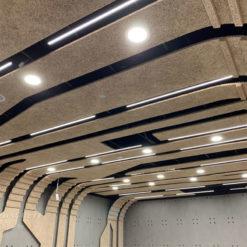 新北 台灣電力公司烏來台灣電業文物館_鑽泥板裝飾型大板片造型天花板