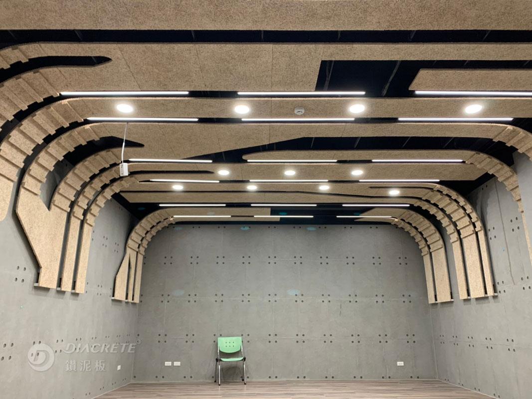 新北 台灣電力公司烏來台灣電業文物館_鑽泥板裝飾型大板片造型天花板03