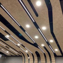 新北 台灣電力公司烏來台灣電業文物館_鑽泥板裝飾型大板片造型天花板01